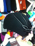 фетровый женский мини берет украшенный шнурком, фото 7