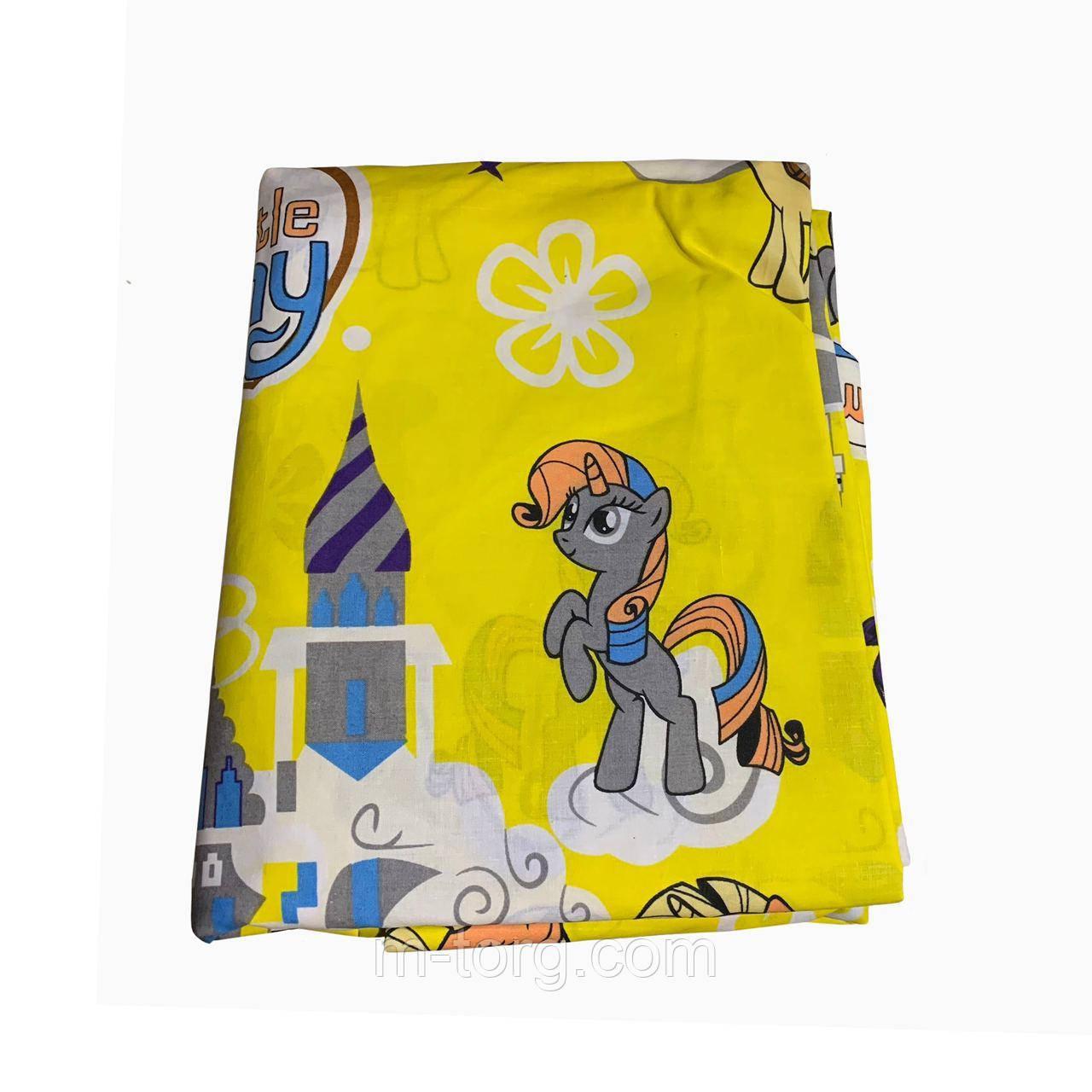 Комплект постільної білизни полуторний 150/220 з дитячим малюнком,одна нав-ка 70/70,тканина сатин 100% бавовна