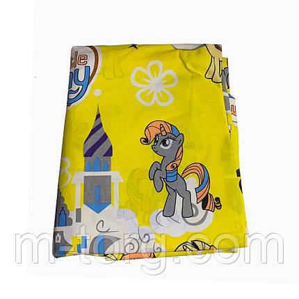 Комплект постільної білизни полуторний 150/220 з дитячим малюнком,одна нав-ка 70/70,тканина сатин 100% бавовна, фото 2