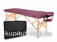 Складной массажный стол, 2-х сегментный, деревянный AVENO Life Aura (Бургунди), фото 1