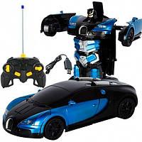 Радиоуправляемая машинка Трансформер Bugatti 668 Синяя
