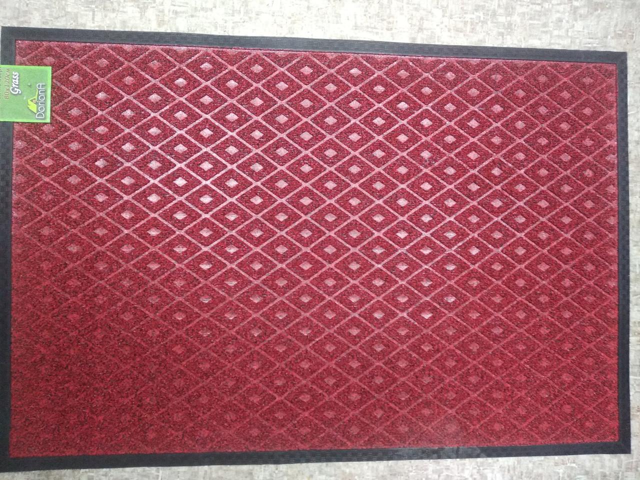 Коврик под двери Dariana Grass 80х120см красный