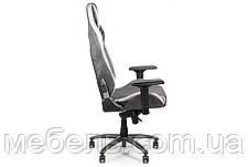 Геймерское компьютерное детское кресло Barsky VR Cyberpunk Microfiber Black CYB-01, фото 3