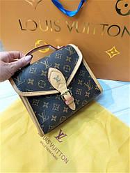 Женская кожаная сумка Louis Vuitton коричневая. Сумка Луи Виттон