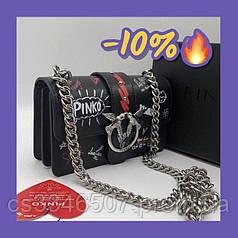 Сумка Pinko Love Bag graffiti . Шкіряна сумка Пінко
