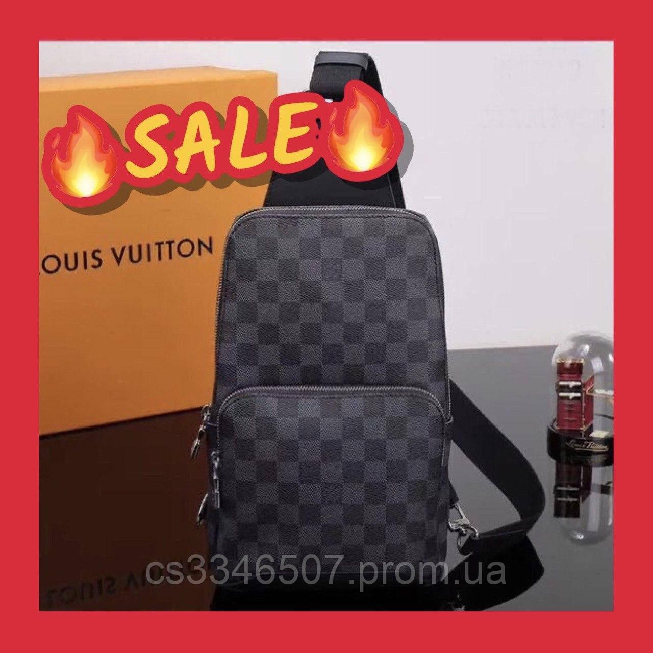 Мужская сумка Louis Vuitton Avenue Damier Graphite. Сумка Луи Виттон