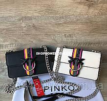 Шкіряна сумка Pinko Love Bag Sport in Pell. Жіноча сумка Пінко, фото 3
