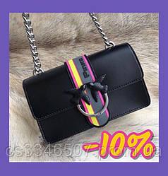 Шкіряна жіноча сумка Пінко Pinko Love Bag Sport in Pell (чорна)