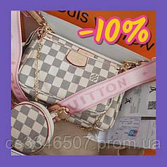 Жіноча сумка Louis Vuitton Multi Pochette Rose. Сумка Луї Віттон