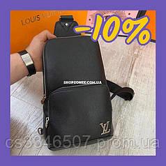 Кожаная сумка-слинг Louis Vuitton Avenue Sling. Сумка мужская Луи Виттон