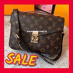 Женская сумка Louis Vuitton Pochette Metis Monogram. Кожаная сумка Луи Виттон