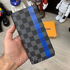 Бумажник Louis Vuitton Brazza Damier Graphite Pixel. Мужской кошелёк Луи Виттон