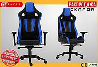 Компьютерное Игровое Кресло Геймерское с MultiBlock для Геймера GT Racer X-0715 Черное / Синее