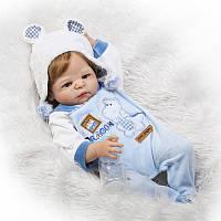 Силиконовая Коллекционная Кукла Реборн Alysi Мальчик 57cм. (K152)