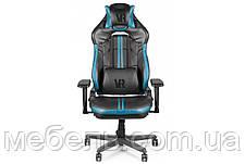 Геймерское компьютерное кресло Barsky VR Cyberpunk Blue CYB-02, фото 2