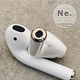Бездротові навушники Apple AirPods 2, копія 1:1. Чіп Airoha 1536U. Білі. Чохол в подарунок, фото 5