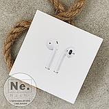 Бездротові навушники Apple AirPods 2, копія 1:1. Чіп Airoha 1536U. Білі. Чохол в подарунок, фото 7