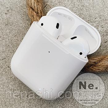 Бездротові навушники Apple AirPods 2, копія 1:1. Чіп Airoha 1536U. Білі. Чохол в подарунок