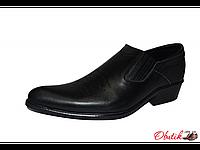 Туфли казаки мужские Broni кожа черные В0009