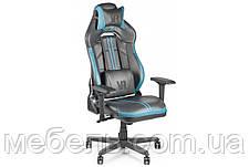 Геймерское компьютерное детское кресло Barsky VR Cyberpunk Blue CYB-02, фото 2