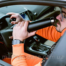 Умный термос с ЖК-экраном, который напоминает пить воду. Smart bottle. Цвет: чёрный, фото 2