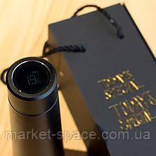 Умный термос с ЖК-экраном, который напоминает пить воду. Smart bottle. Цвет: чёрный, фото 3