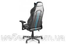 Кресло для врача Barsky CYB-02 VR Cyberpunk Blue, черный / синий, фото 3