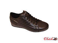 Туфли мужские спортивные ECCO кожа на шнуровке черные E0002