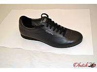 Туфли спортивные мужские Iseberg кожаные черные Is0002