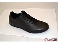 Туфли мужские спортивные Cuddos кожаные черные Cu0006