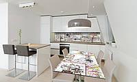 Наклейка 3Д виниловая на стол Zatarga «Рисунок карандашом» 600х1200 мм для домов, квартир, столов,