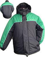 Фирменная куртка с капюшоном утепленная