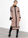 Трикотажное платье с воротником-стойкой и удлинённой спинкой, фото 4