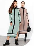 Трикотажное платье с воротником-стойкой и удлинённой спинкой, фото 7