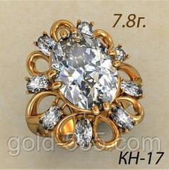 Женское золотое кольцо в форме цветка