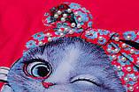 Футболка для девочки р.116 Cute Cats SmileTime , розовый коралл, фото 3