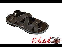 Босоножки мужские Adidas Porshe экокожа черные AD0013
