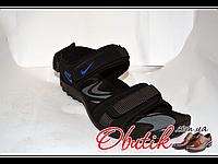 Босоножки мужские Nike черные синий логотип NI0017
