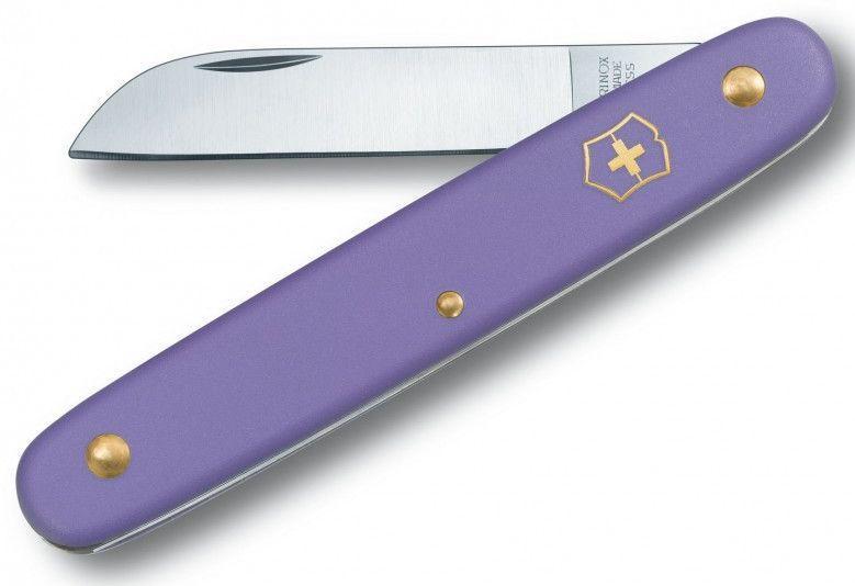 Нож садовый Victorinox  Floral, фиолетовый