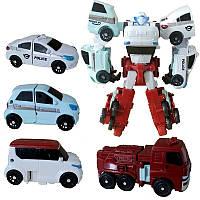 Робот-Трансформер Кватран Q1907 Мини Тобот Tobot Quatran с героями 4 машинки фигурка 23см
