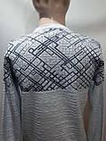 Мужской теплый шерстяной свитер р. Л Kameni отличного качества Турция Светло-серый последний, фото 7