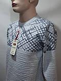 Мужской теплый шерстяной свитер р. Л Kameni отличного качества Турция Светло-серый последний, фото 6