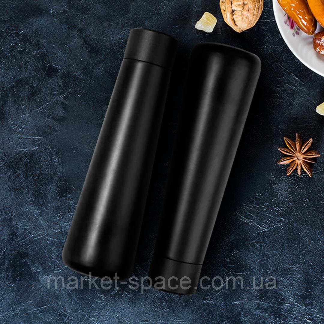 Набор из 2-х умных бутылок с ЖК-экраном, которые напоминают пить воду. Smart bottle. Цвета: чёрный + чёрный