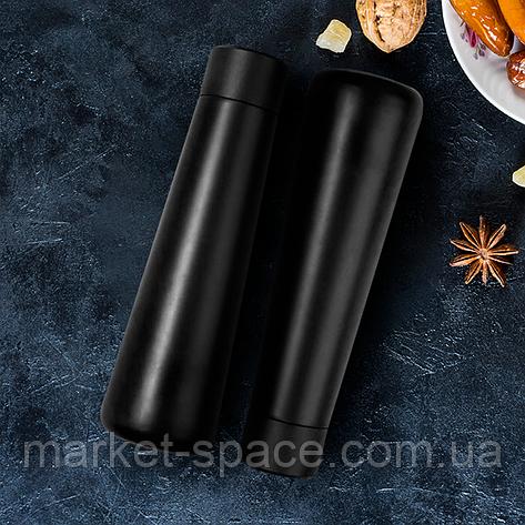 Набор из 2-х умных бутылок с ЖК-экраном, которые напоминают пить воду. Smart bottle. Цвета: чёрный + чёрный, фото 2