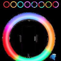 Кольцевая светодиодная лампа со штативом RGB LED MJ33