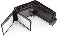 Кожаный мужской кошелек портмоне из гладкой кожи ST Leather