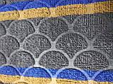 Коврик придверный полукруглый Multicolor 45х75см тёмно-серый, фото 2