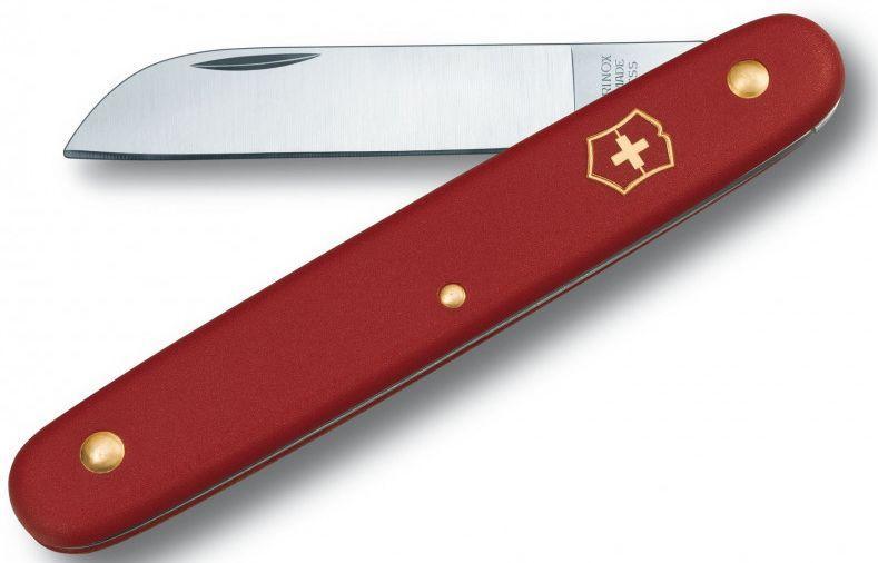 Нож садовый Victorinox  Floral, красный
