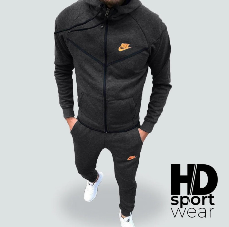 Спортивный костюм Nike на флисе теплый Серый