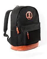 Спортивный городской рюкзак Megapolis черный (рюкзаки молодежные, велосипедный рюкзак, рюкзаки городские)